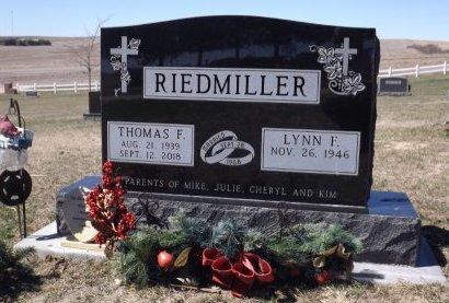 RIEDMILLER, THOMAS F. - Cedar County, Nebraska   THOMAS F. RIEDMILLER - Nebraska Gravestone Photos