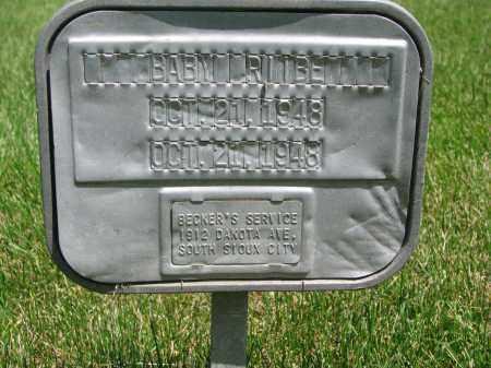 RIIBE, BABY - Cedar County, Nebraska | BABY RIIBE - Nebraska Gravestone Photos