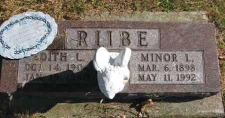 RIIBE, MINOR L. - Cedar County, Nebraska | MINOR L. RIIBE - Nebraska Gravestone Photos