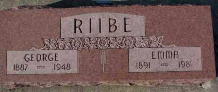 RIIBE, GEORGE - Cedar County, Nebraska | GEORGE RIIBE - Nebraska Gravestone Photos