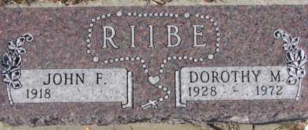 RIIBE, JOHN F. - Cedar County, Nebraska | JOHN F. RIIBE - Nebraska Gravestone Photos