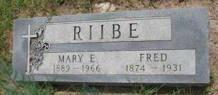 RIIBE, MARY E. - Cedar County, Nebraska | MARY E. RIIBE - Nebraska Gravestone Photos