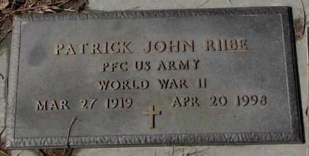 RIIBE, PATRICK JOHN (WW II) - Cedar County, Nebraska | PATRICK JOHN (WW II) RIIBE - Nebraska Gravestone Photos