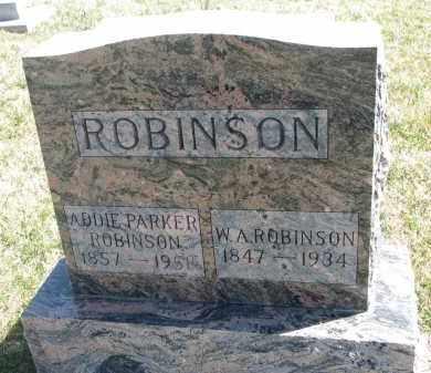 PARKER ROBINSON, ADDIE - Cedar County, Nebraska | ADDIE PARKER ROBINSON - Nebraska Gravestone Photos