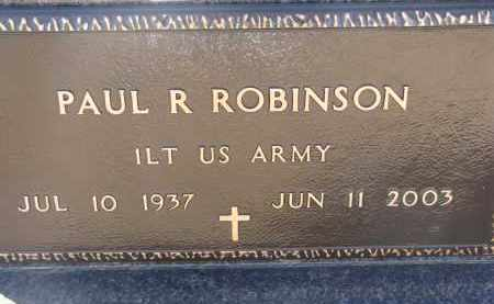 ROBINSON, PAUL R. (MILITARY) - Cedar County, Nebraska | PAUL R. (MILITARY) ROBINSON - Nebraska Gravestone Photos