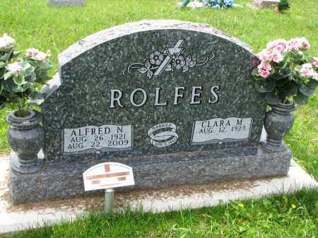 ROLFES, ALFRED N. - Cedar County, Nebraska   ALFRED N. ROLFES - Nebraska Gravestone Photos