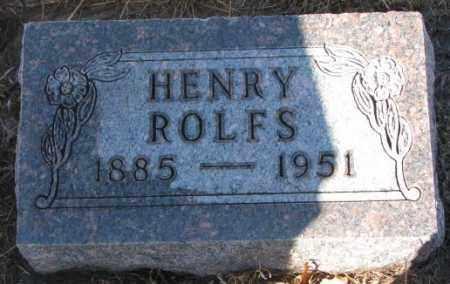 ROLFS, HENRY - Cedar County, Nebraska | HENRY ROLFS - Nebraska Gravestone Photos