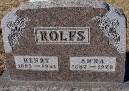 ROLFS, ANNA - Cedar County, Nebraska | ANNA ROLFS - Nebraska Gravestone Photos
