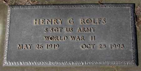 ROLFS, HENRY G. (WW II) - Cedar County, Nebraska | HENRY G. (WW II) ROLFS - Nebraska Gravestone Photos