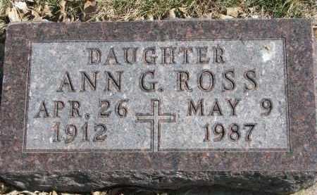 PEROUTKA ROSS, ANN G. - Cedar County, Nebraska | ANN G. PEROUTKA ROSS - Nebraska Gravestone Photos