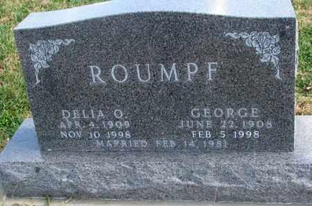 ROUMPF, DELLA O. - Cedar County, Nebraska | DELLA O. ROUMPF - Nebraska Gravestone Photos