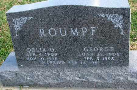 ROUMPF, GEORGE - Cedar County, Nebraska | GEORGE ROUMPF - Nebraska Gravestone Photos