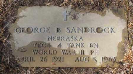 SANDROCK, GEORGE B. (WW II) - Cedar County, Nebraska | GEORGE B. (WW II) SANDROCK - Nebraska Gravestone Photos
