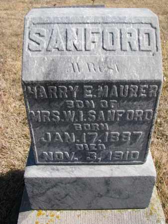 SANFORD, HARRY E. - Cedar County, Nebraska   HARRY E. SANFORD - Nebraska Gravestone Photos
