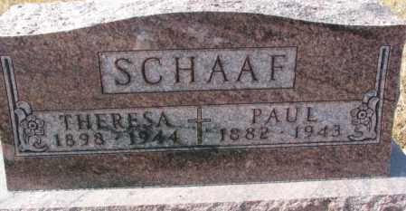 SCHAAF, THERESA - Cedar County, Nebraska | THERESA SCHAAF - Nebraska Gravestone Photos