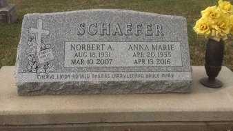 SCHAEFER, NORBERT A. - Cedar County, Nebraska | NORBERT A. SCHAEFER - Nebraska Gravestone Photos