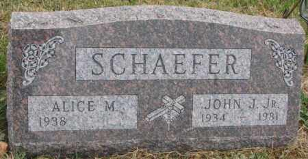 SCHAEFER, ALICE M. - Cedar County, Nebraska   ALICE M. SCHAEFER - Nebraska Gravestone Photos