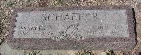 PINKELMAN SCHAEFER, FRANCES F. - Cedar County, Nebraska | FRANCES F. PINKELMAN SCHAEFER - Nebraska Gravestone Photos