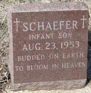 SCHAEFER, INFANT SON - Cedar County, Nebraska   INFANT SON SCHAEFER - Nebraska Gravestone Photos