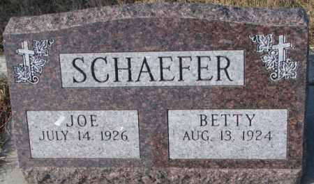 SCHAEFER, JOE - Cedar County, Nebraska   JOE SCHAEFER - Nebraska Gravestone Photos