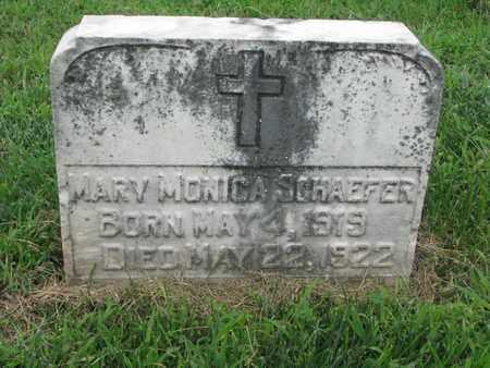 SCHAEFER, MARY MONICA - Cedar County, Nebraska   MARY MONICA SCHAEFER - Nebraska Gravestone Photos