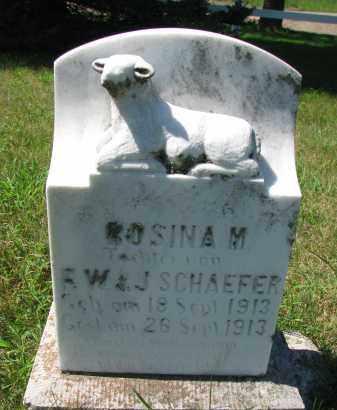 SCHAEFER, ROSINA M. - Cedar County, Nebraska | ROSINA M. SCHAEFER - Nebraska Gravestone Photos