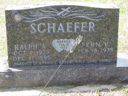 SCHAEFER, FERN V. - Cedar County, Nebraska   FERN V. SCHAEFER - Nebraska Gravestone Photos