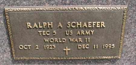 SCHAEFER, RALPH A. (WW II) - Cedar County, Nebraska | RALPH A. (WW II) SCHAEFER - Nebraska Gravestone Photos