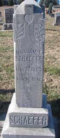 SCHAEFER, WILLIAM F. - Cedar County, Nebraska   WILLIAM F. SCHAEFER - Nebraska Gravestone Photos