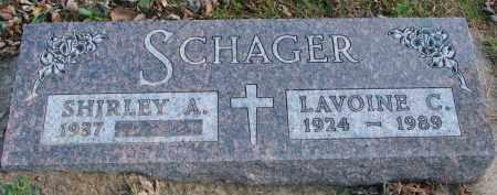 SCHAGER, LAVOINE C. - Cedar County, Nebraska | LAVOINE C. SCHAGER - Nebraska Gravestone Photos