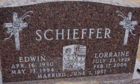 SCHIEFFER, EDWIN - Cedar County, Nebraska | EDWIN SCHIEFFER - Nebraska Gravestone Photos