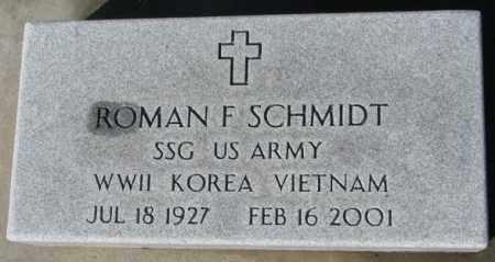 SCHMIDT, ROMAN F. (MILITARY) - Cedar County, Nebraska | ROMAN F. (MILITARY) SCHMIDT - Nebraska Gravestone Photos