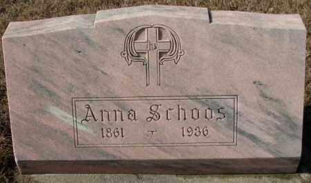 SCHOOS, ANNA - Cedar County, Nebraska | ANNA SCHOOS - Nebraska Gravestone Photos