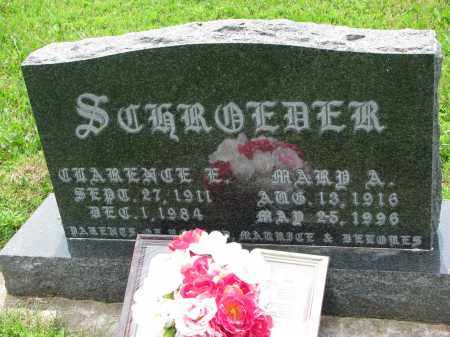 SCHROEDER, MARY A. - Cedar County, Nebraska   MARY A. SCHROEDER - Nebraska Gravestone Photos