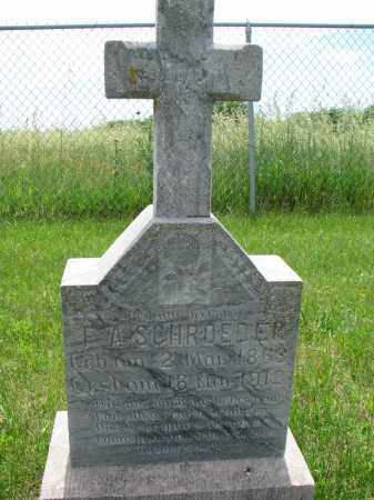 SCHROEDER, F.A. - Cedar County, Nebraska | F.A. SCHROEDER - Nebraska Gravestone Photos