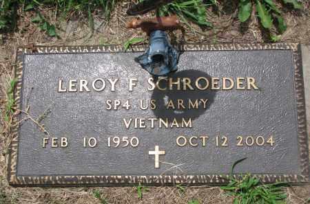 SCHROEDER, LEROY F. (MILITARY) - Cedar County, Nebraska | LEROY F. (MILITARY) SCHROEDER - Nebraska Gravestone Photos