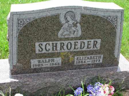 SCHROEDER, ELIZABETH - Cedar County, Nebraska | ELIZABETH SCHROEDER - Nebraska Gravestone Photos