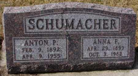 SCHUMACHER, ANNA F. - Cedar County, Nebraska | ANNA F. SCHUMACHER - Nebraska Gravestone Photos