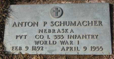 SCHUMACHER, ANTON P. (WW I) - Cedar County, Nebraska   ANTON P. (WW I) SCHUMACHER - Nebraska Gravestone Photos