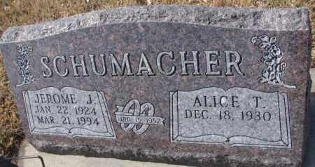 SCHUMACHER, JEROME J. - Cedar County, Nebraska | JEROME J. SCHUMACHER - Nebraska Gravestone Photos