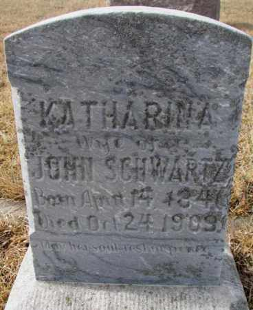 SCHWARTZ, KATHARINA - Cedar County, Nebraska | KATHARINA SCHWARTZ - Nebraska Gravestone Photos