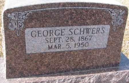 SCHWERS, GEORGE - Cedar County, Nebraska   GEORGE SCHWERS - Nebraska Gravestone Photos