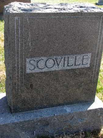 SCOVILLE, FAMILY STONE - Cedar County, Nebraska   FAMILY STONE SCOVILLE - Nebraska Gravestone Photos