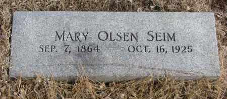 OLSEN SEIM, MARY - Cedar County, Nebraska   MARY OLSEN SEIM - Nebraska Gravestone Photos