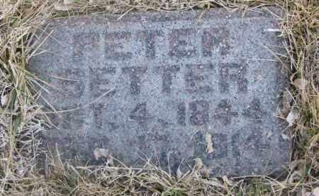 SETTER, PETER - Cedar County, Nebraska | PETER SETTER - Nebraska Gravestone Photos
