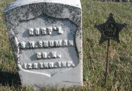 SHUMAN, S.W. - Cedar County, Nebraska   S.W. SHUMAN - Nebraska Gravestone Photos