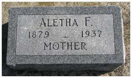 SMITH, ALETHA F. - Cedar County, Nebraska | ALETHA F. SMITH - Nebraska Gravestone Photos