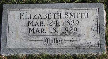 SMITH, ELIZABETH - Cedar County, Nebraska | ELIZABETH SMITH - Nebraska Gravestone Photos