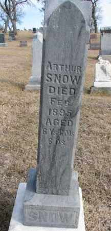 SNOW, ARTHUR - Cedar County, Nebraska | ARTHUR SNOW - Nebraska Gravestone Photos