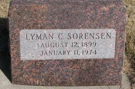 SORENSEN, LYMAN C. - Cedar County, Nebraska | LYMAN C. SORENSEN - Nebraska Gravestone Photos